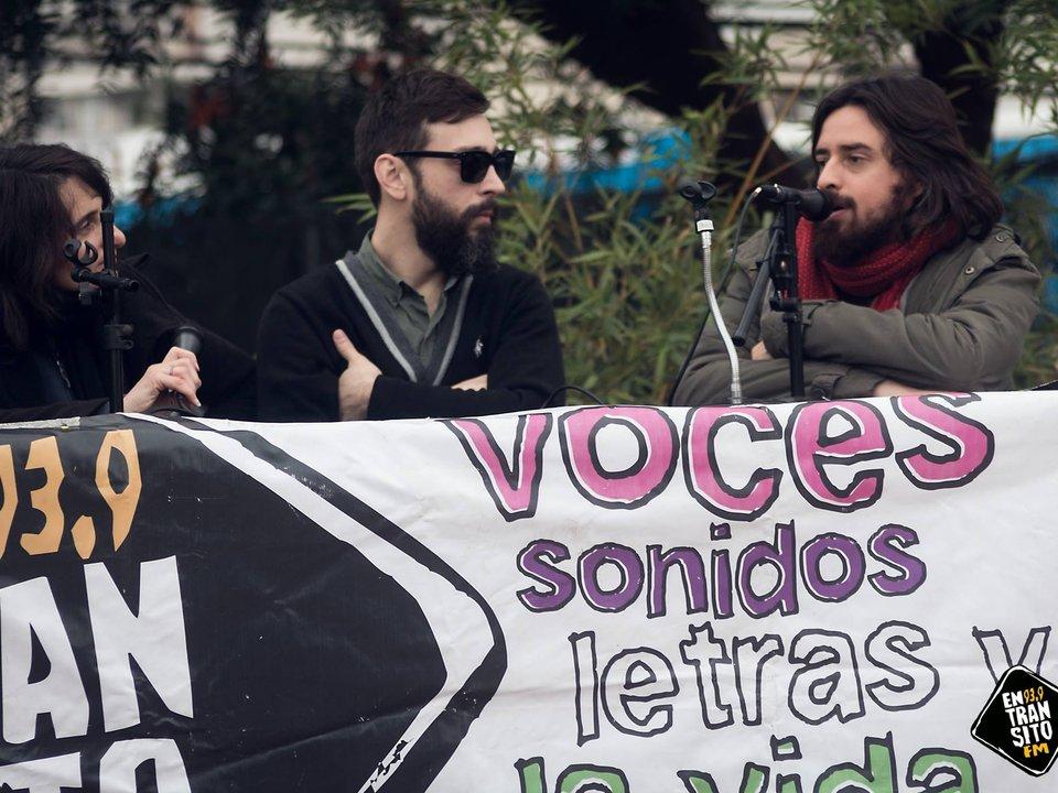 Radio Abierta en la Plaza del vagón en Castelar