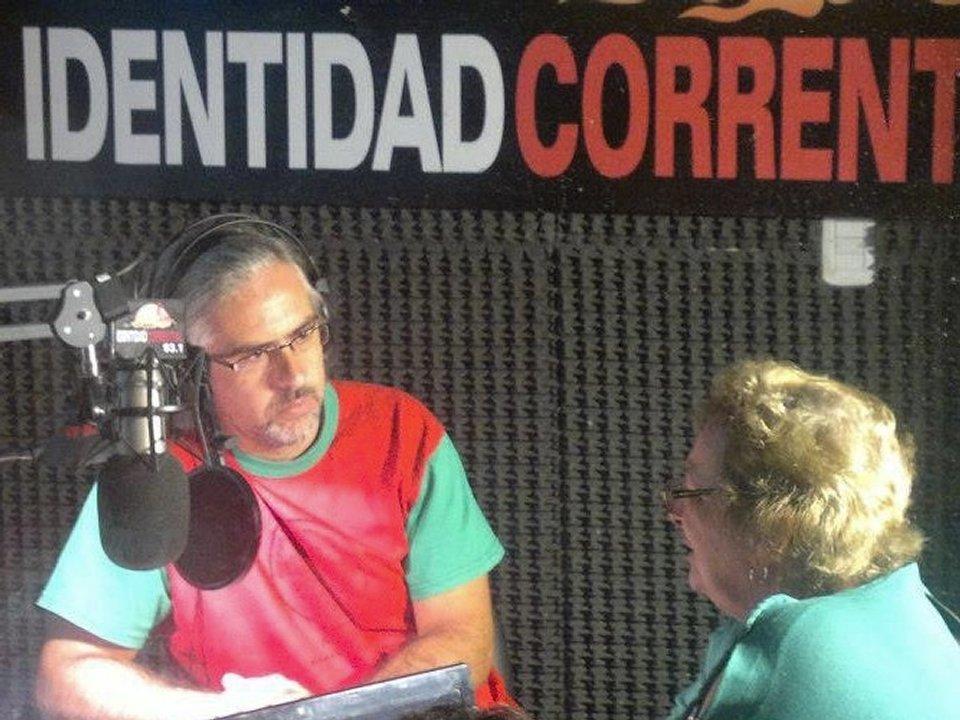 Programa La Chicharra en FM Identidad Correntina, antes de que surja la radio