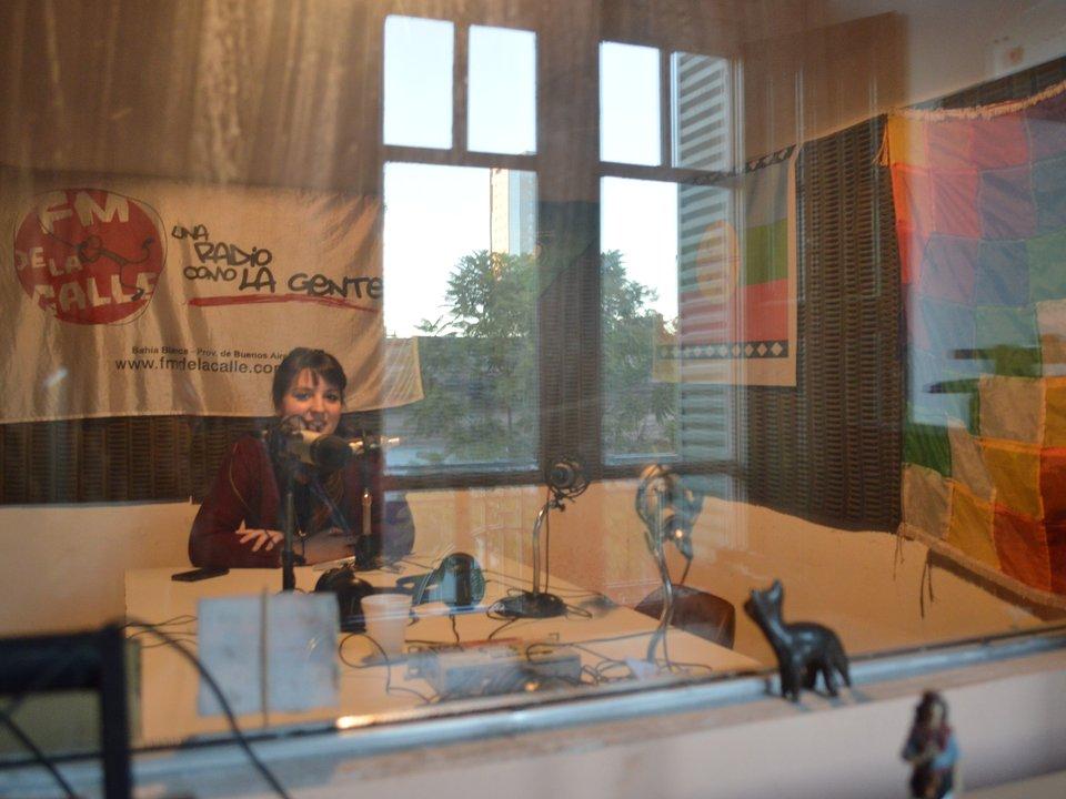 Giuliana Crucianelli en los estudios