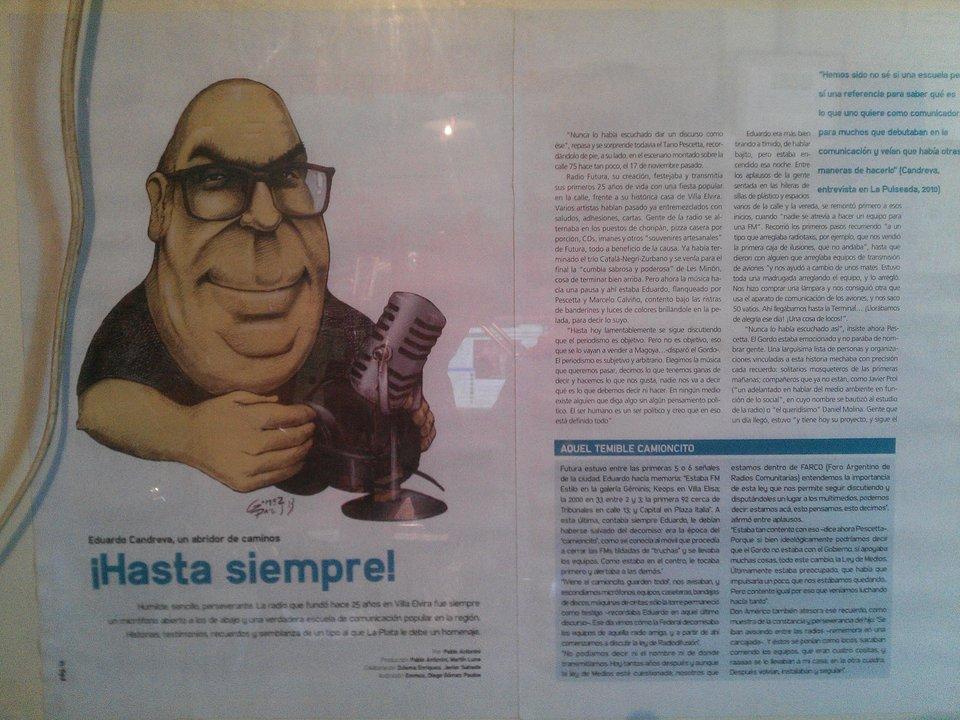 Eduardo Candreva, compañero fundador de Radio Futura