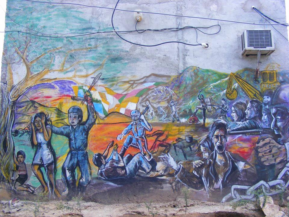 Mural sobre la represión